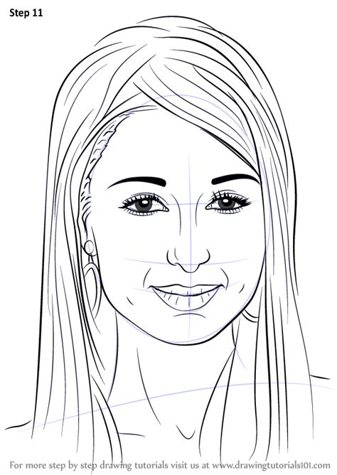 Learn How to Draw Paris Hilton (Famous People) Step by