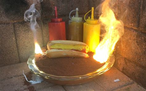 A Hot Dog, Ketchup, Mustard, and Relish Cooked With 4,000