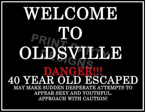 DIY Over the Hill Party Welcome Sign super hilarious (With