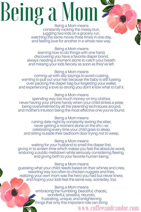 Being a Mom Poem | Mom poems, Mommy quotes, Single mom life