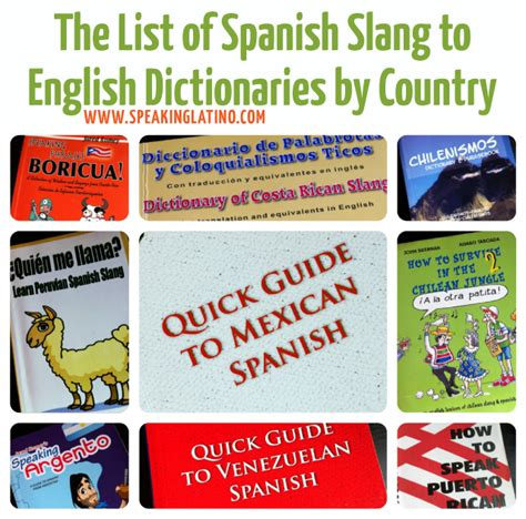 The Spanish Slang to English Dictionary List by Country