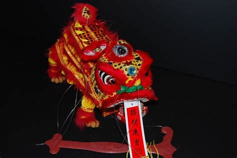 CHINESE NEW YEAR TOY LION DRAGON HEAD DANCE PUPPET 12