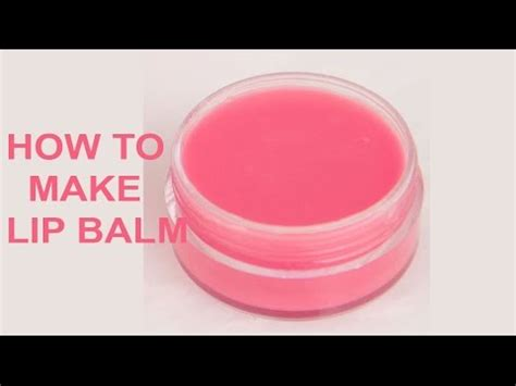 How to make lip balm at home in easy way - YouTube