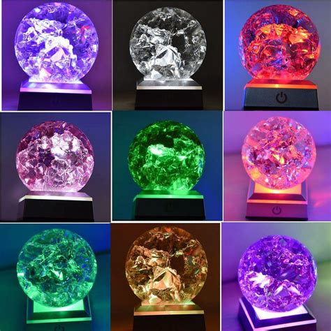 China Ice Cracked Colored Solid Crystal Ball Magic Glass