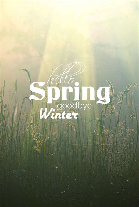 Hello Spring Goodbye Winter Pictures, Photos, and Images