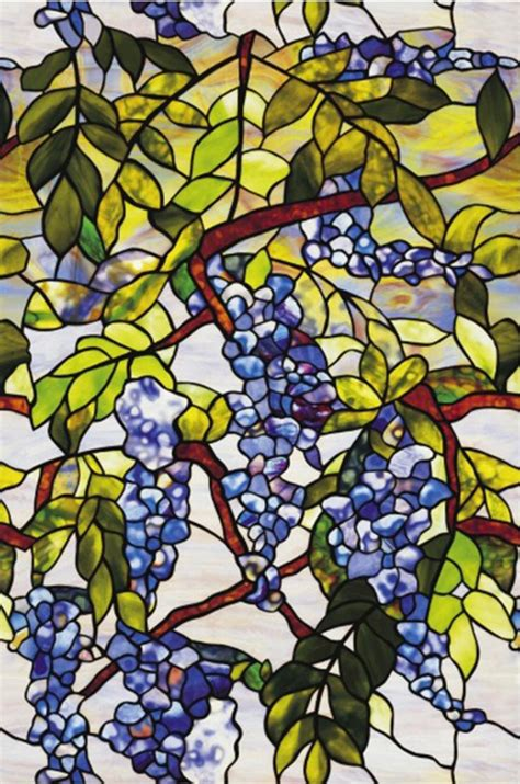 Static Cling Harvest Grape Stained Glass Window Film Decor