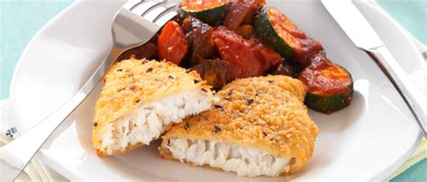 Hoki Fillets with Roasted Vegetable Ratatouille   Food in