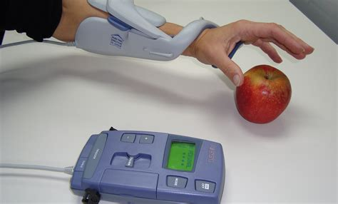 Electrical stimulation is used to strengthen and
