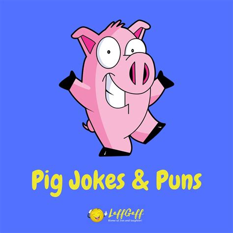 41 Funny Pig Jokes And Puns | LaffGaff, Home Of Laughter