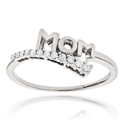 Mothers Day Gifts Journey Diamond MOM Ring