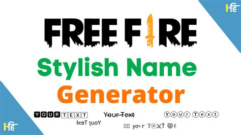 Free Fire Stylish Name Generator [Online Style Text Maker
