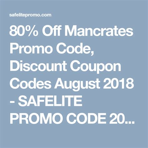 80% Off Mancrates Promo Code, Discount Coupon Codes August