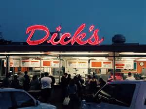 Everyone Goes Nuts For The Hamburgers At Dick's Drive-In