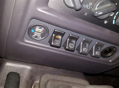 97-01 Jeep Cherokee XJ Police Package Switch Panel 3d
