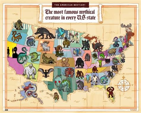 The Most Famous Mythical Creatures & Animals In Each US