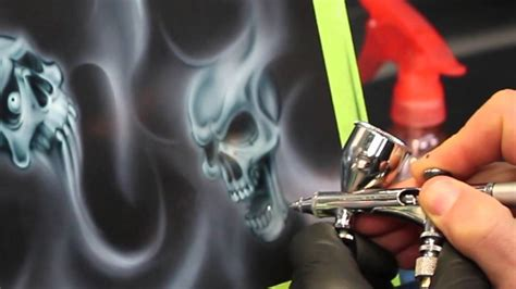 Smoke Flames and Skulls Step by Step