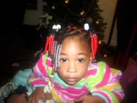 Natural kids hairstyle: Beads, braids, and ponytails - YouTube