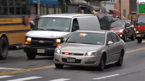 NYPD unmarked car + police cruiser - YouTube