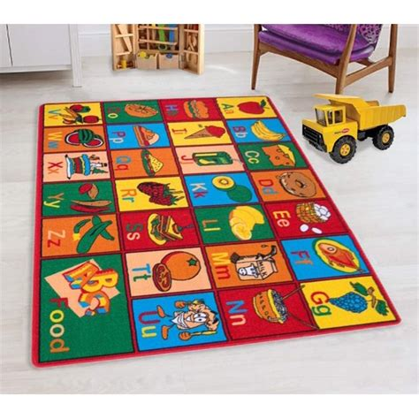 Teaching ABC Food/Fruits Kids Educational Play mat for